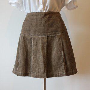 Vintage Corduroy Brown Skirt